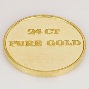 24 carat gold coin